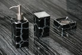 bathroom accessories black and silver bathroom accessories black
