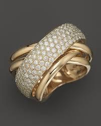 yellow gold diamond rings pav diamond ring in 14k yellow gold 2 25 ct t w
