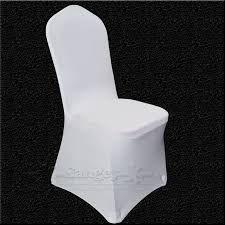 polyester chair covers 100 pcs universal white stretch polyester wedding party spandex