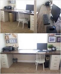 Homemade Wooden Computer Desk by