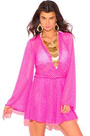 shop neon pink crochet lace wrap cut out backless boho summer