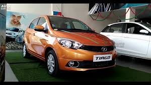 tata tiago 2016 orange color first look exteriors u0026 interiors