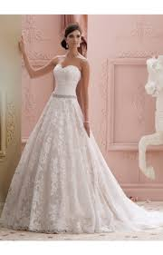 strapless taffeta ball gown wedding dress with embellished bodice