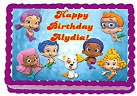 Bubble Guppies Birthday Decorations Amazon Com Bubble Guppies 1 4 Sheet Edible Photo Birthday Cake