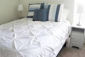 diy tutorial diy duvet covers diy pintuck white duvet cover