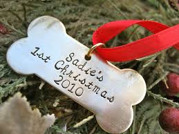 puppy s bone ornament by makeyourdogsmile on