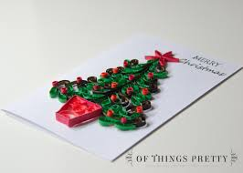 greeting card merry christmas tree with ornaments holiday