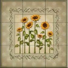 sunflower kitchen ideas sunflower kitchen decor tile murals backsplash 10 kitchen
