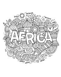 africa abstract symbols africa coloring pages for adults