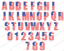american flag alphabet clipart png stars and by prettydigidesign