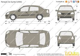 renault clio symbol the blueprints com vector drawing renault clio symbol