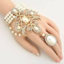 bracelet hand chain images Shop finger ring hand chain bracelet on wanelo jpg