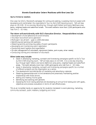 ideas of sample cover letter for event planner job also resume