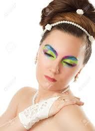 maquillage mariage notion de mariage femme mariée couleur créative de