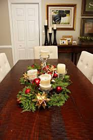 home design glamorous christmas dining room table decorations