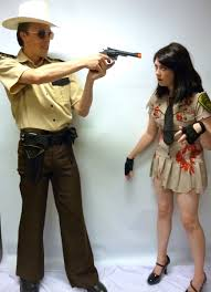 walking dead costumes for halloween walking dead sheriff couple creative costumes