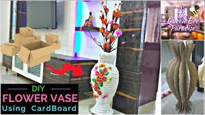 diy tall vase using cardboard easy home decor craft best out of