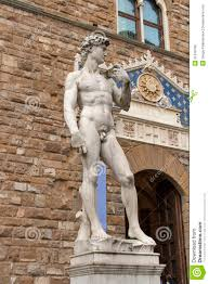 david statue by michelangelo buonarroti in florence italy stock