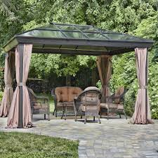 Patio Gazebos by Exterior Enchanting Garden Design With Unique Hardtop Gazebo