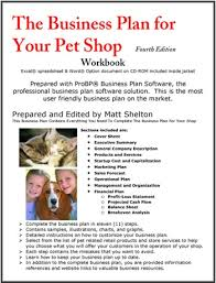 the business plan for your pet shop pet related businesses