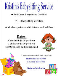 babysitting flyer template word google search open when