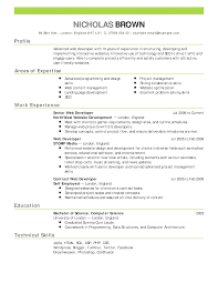 Sample Resume Templates Free Download by Enchanting Resume Templates Free Download Web Developer Resume