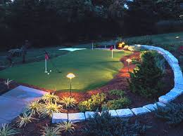 backyard putting green lighting specialty services synthetic putting greens mullan nursery company