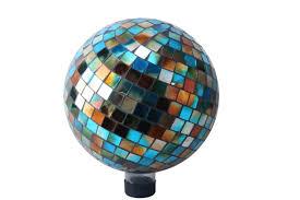 12 Inch Glass Gazing Balls 10 Inch Mosaic Gazing Ball Blue Amber Walmart Com