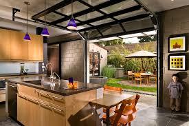 houzz glass kitchen cabinet doors kitchen with courtyard outside glass garage doors