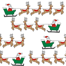 santa s sleigh fabric reindeer and santa pole