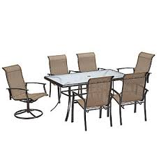 Dining Chairs And Tables Garden Oasis Harrison 7 Pc Textured Glass Top Dining Set