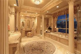 traditional master bathroom with drop in bathtub u0026 flush light