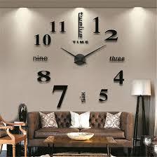 Wanduhren Wohnzimmer Mit Beleuchtung Diy 3d Wanduhren Modern Design Acryl Wanduhren Wandtattoo