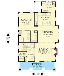 open floor plans with loft plan 69541am bungalow with open floor plan loft cottage house