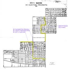 2nd Ward Map Chicago by Chicago Ward Map Circa 1917