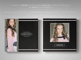 senior photography album cover template new classic