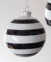 6er set kugeln weihnachtskugeln streifen schwarz weiß christbaum