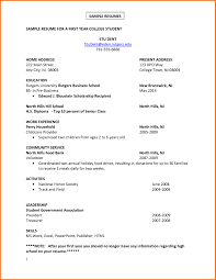 Student Resume Maker Examples Of Resumes For College Applications Resume Example And