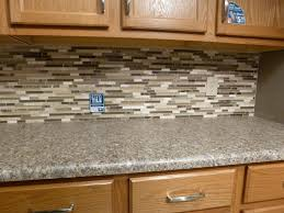 Kitchen Tiles Backsplash Pictures Mosaic Kitchen Tile Backsplash With Brown Cabinet Kitchen