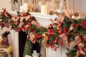 lighted evergreen ribbon garland craft ideas
