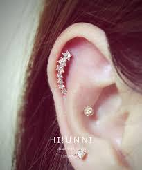 cartilage piercing earrings 52 earrings cartilage 16g cz studded sparkling flower line