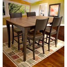 amerihome loft style 32 in x 32 in dining table set in black