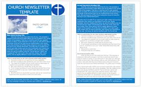 8 best images of printable church newsletter templates printable