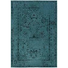 Turquoise And Gray Area Rug Amazon Com Oriental Weavers Revival 550h Area Rug 5 U0027 3 X 7 U00276