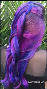 blue pink dyed hair ivoryrosehair colored hair pinterest