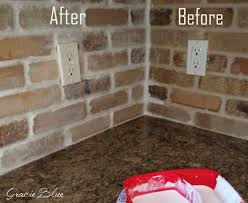 Kitchen Brick Backsplash Diy Whitewashed Brick Backsplash