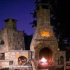 Firerock Masonry Fireplace Kits by Firerock Conventional Arched Outdoor Fireplace 42