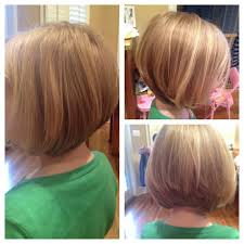 kids angle haircut awesome a fun graduation bob for finer hair great for little