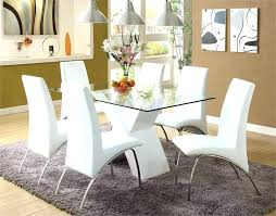 White Wooden Dining Table And Chairs White Tufted Dining Chairs Majestic White Leather Dining Room
