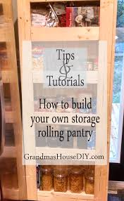 how to build your own rolling pantry for incredible easy storage